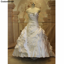 Crystal Bling Bling Wedding Dresses Elegant Beaded Sweetheart Sleeveless Lace Up Back ACTUAL IMAGE Trumpet Bridal Gown WM50(China (Mainland))