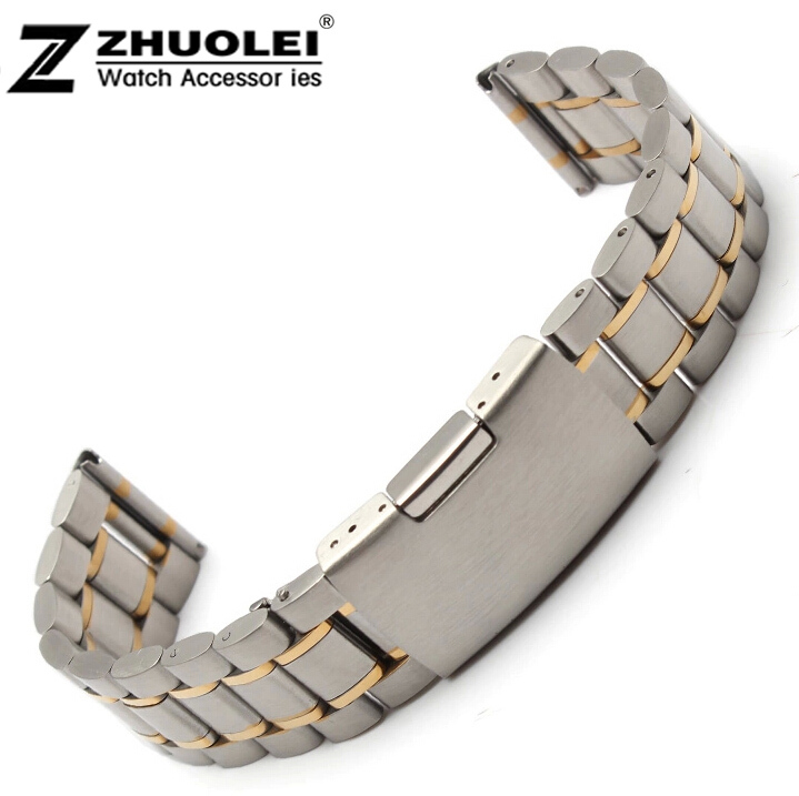 Stainless Steel Solid Links Watch Band Strap Bracelet Straight End 18mm,20mm,22mm Free Delivery<br><br>Aliexpress