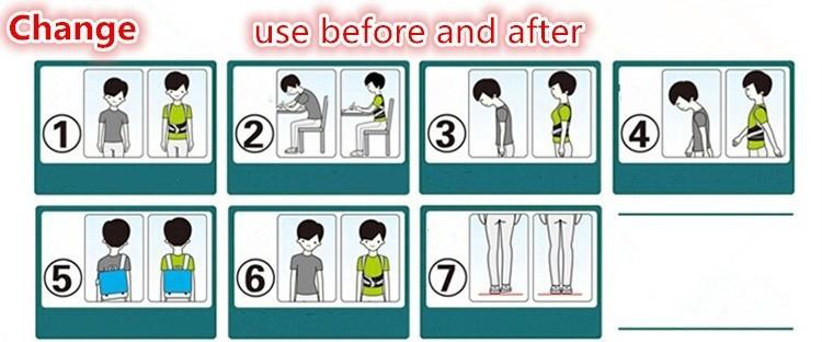 New Arrival Student Women Adjustable Skin Color Belt Posture Corrector Brace Support Posture Shoulder Corrector For Health Care