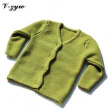 Autumn and winter high elastic thick newborn baby cardigan sweater 0-23M baby knitted sweater fine wool line 10 colors available