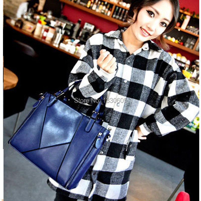 free shipping 2015 Leather vintage CALF tote bag Monogram Sac Plat Tote Speedy Cannage women bag Quilted Leather Messenger bags(China (Mainland))