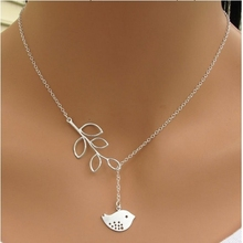 necklace fashion fine jewelry statement summer jewelry necklaces & pendants women collier colares choker Birds and leaves chains