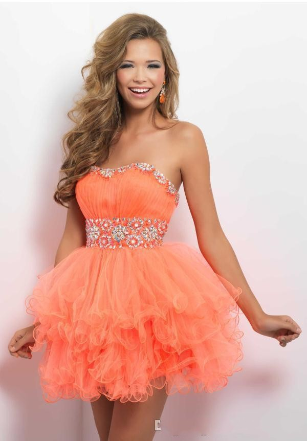 Compare Prices on Short Orange Organza Prom Dress- Online Shopping ...
