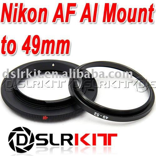 Aluminum 49mm 52mm Macro Reverse Adapter Ring for Nikon AF Mount<br><br>Aliexpress