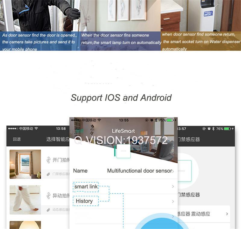 Lifesmart Multifunctional DoorWindow Sensor Security Alarm Wireless GSM3G4GWiFi Smart Home Motion Detect 433 Control by APP-8