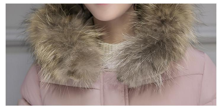 Parkas For Women Winter With Fur Hooded Cotton Padded Jacket Korean Style Slim Solid Thickend Wram Outerwear Long Coat Plus Size