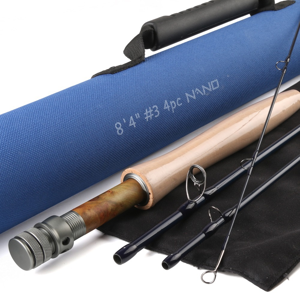 """NANO A-Helix Core Carbon Fly Rod 8'4""""FT 3WT 4PCS With Cordura Tube Half-well Fast Action Fly Fishing Rod(China (Mainland))"""