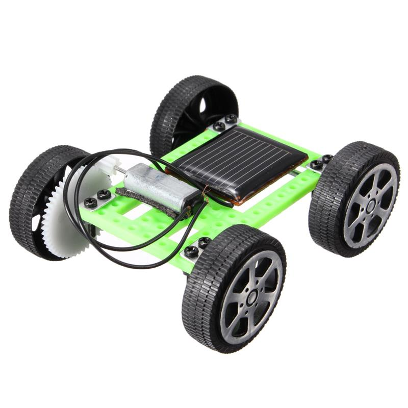 DIY Solar Toy Car Mini Solar Powered Toy Kit Children Gift Educational Puzzle IQ Gadget Hobby Robot(China (Mainland))