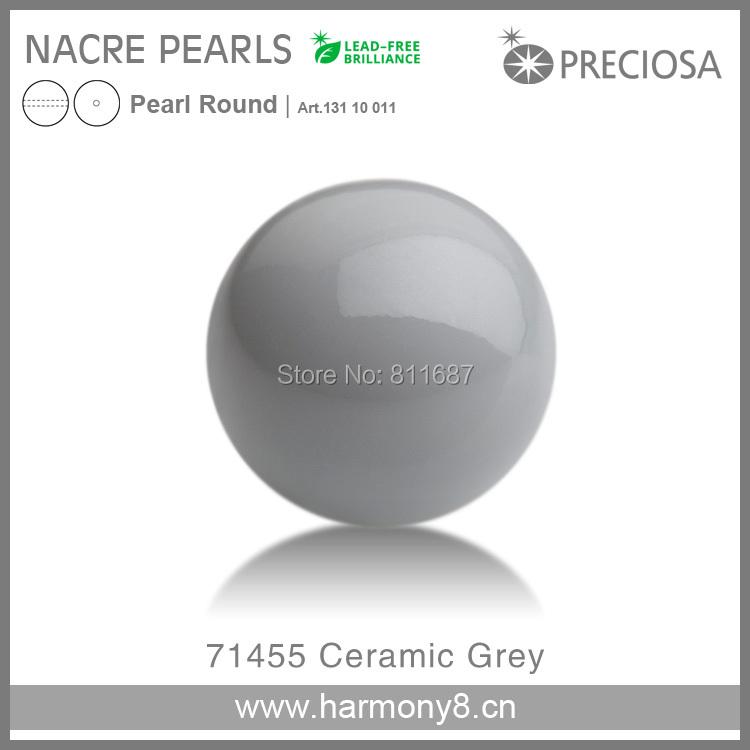 PRECIOSA Crystal Nacre Pearl Round 10mm 71455 Ceramic Grey(China (Mainland))