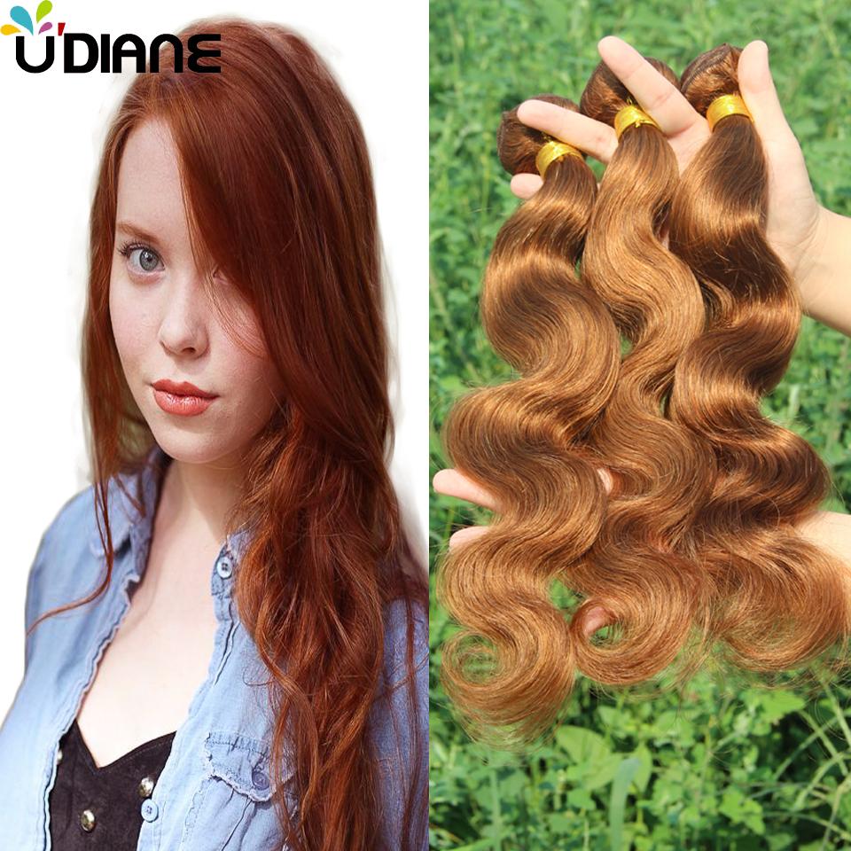 Здесь можно купить  #30 Medium Auburn Mongolian Body Wave Hair Weave 3PCS Medium Brown Virgin Hair Bundles Body Wavy Dip Dye Hair Extensions 0BD61  Волосы и аксессуары