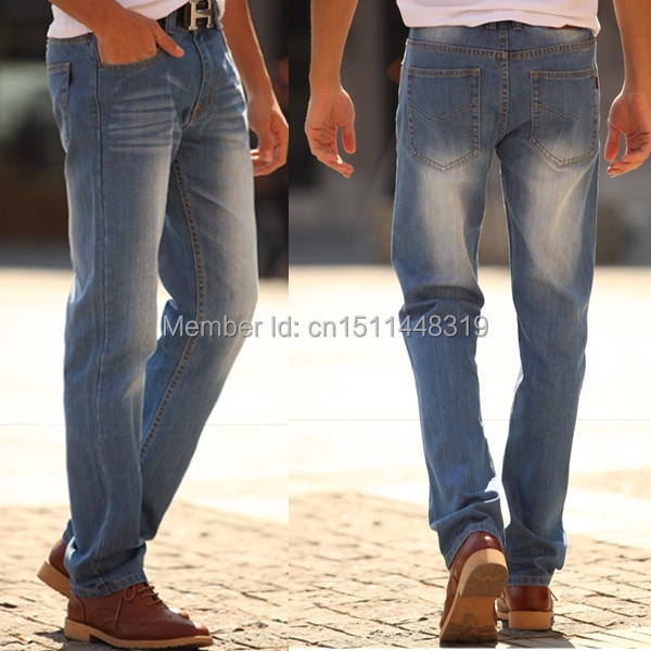 Guys in Light Blue Jeans Slim Jeans Light Blue