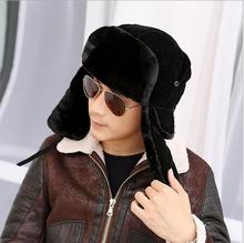 2016 high quality winter Warm Proof Trapper Hat Men aviator hat,Russian Hat sport outdoor ear flaps bomber caps Chapeu morno (China (Mainland))