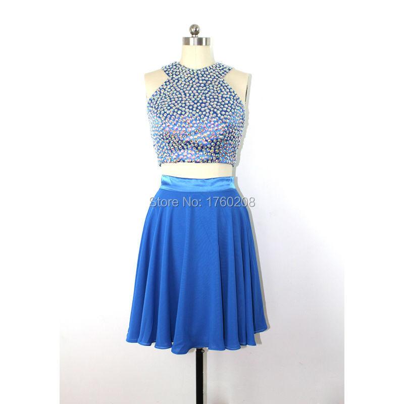 Two Piece Prom Dresses Short | Fashion Wallpaper