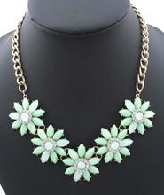 Star Jewelry SALE 2014 NEW Cute Elegant Flower Rhinestone Choker Necklace for Women Statement necklaces pendants