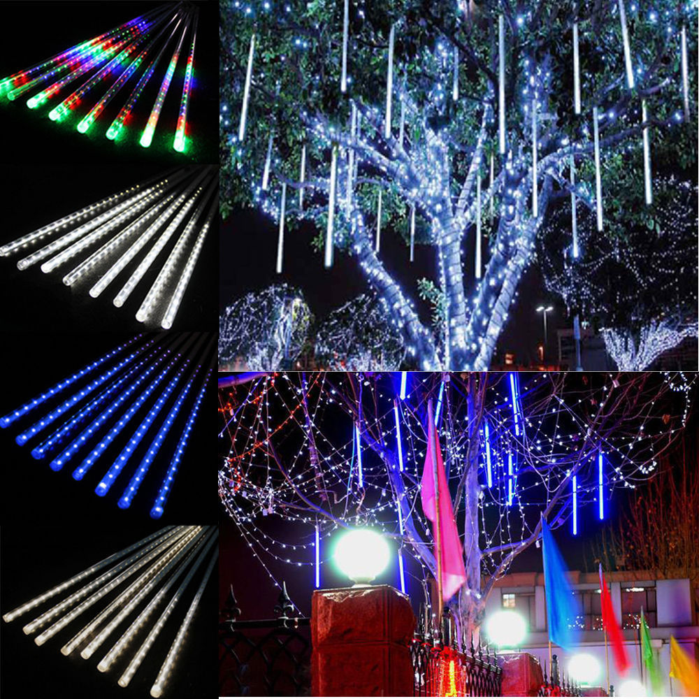 30cm 50cm led string light Christmas light Meteor Shower Falling Star Rain Drop Icicle Snow Fall LED Xmas String Light Bulb(China (Mainland))