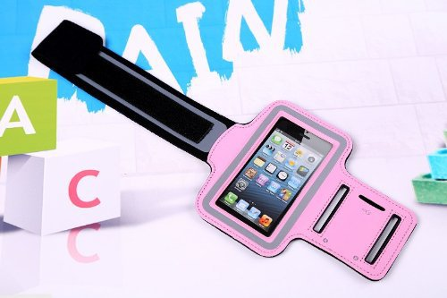 Pink Gym Running Sports Armband Case for Apple iPhone 5 / 5s / 5c and iPod touch 5G(Integrated Pouch Holds Key or Money)(China (Mainland))