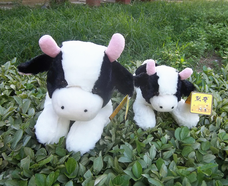 lovely prone cow plush toy soft Dairy cow doll birthday gift b4882(China (Mainland))