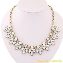 Womens Bib Statement Luxury Rhinestone Necklace for a Classic but Elegant Design 4T59(China (Mainland))