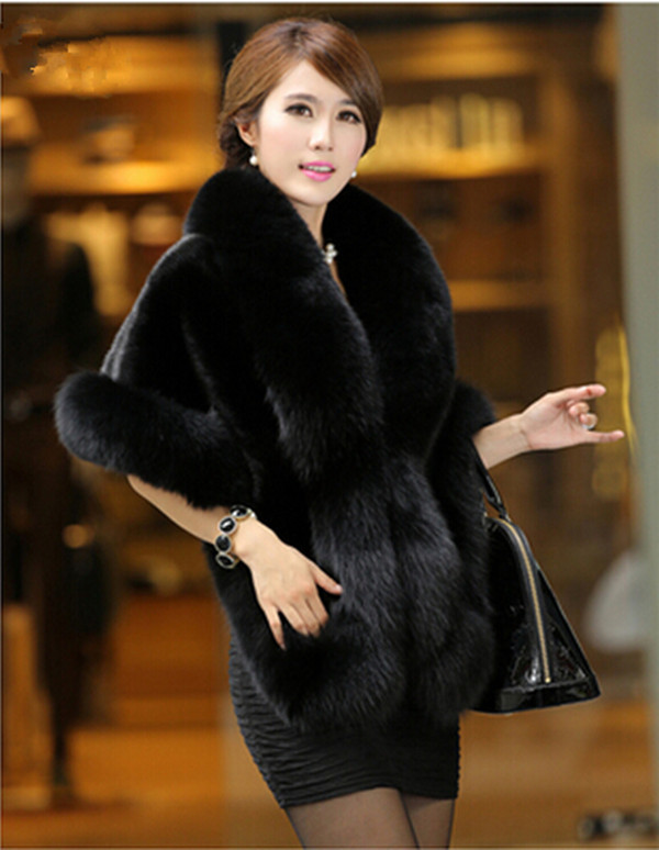 high imitation fur shawl 2015 top fashion adults women mink fox fur wrap collar mink fur shawl MS-1(China (Mainland))