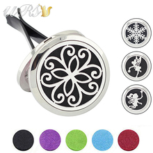 Buy Free Felt Pads! 30mm Magnetic Essential Oil Car Diffuser Locket 316L Stainless Steel Car Aromatherapy Locket Accessories Car for $4.50 in AliExpress store