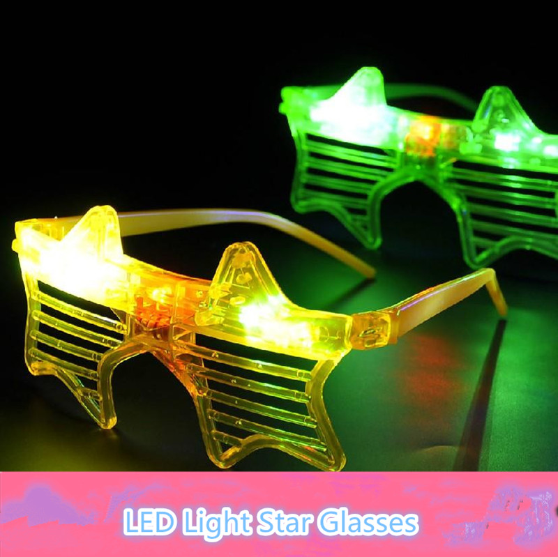 Wholesale 144pcs/lot Party flash glasses mask LED lamps toys five-pointed star glowing light led glasses kids cheap toy gift<br><br>Aliexpress
