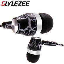 Glylezee Cloth Rope Crack Grain In-ear Headphone Headset Stereo Bass MP3 Music Earphone with Micrphone for Cellphone MP3 MP4