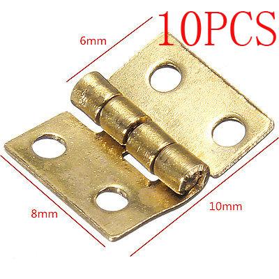 10Pcs Mini Small Metal Hinge for 1/12 House Miniature Cabinet Furniture(China (Mainland))