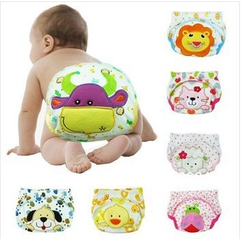 2015 Free shipping Sassy Baby's boy girl infant toilet pee potty training pants cloth diaper children's underwear Baby Nappies