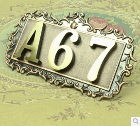 Three Digits House number Pure copper word  Household villa house Archaize street number<br><br>Aliexpress