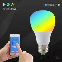 5W Bluetooth 4.0 App Control RGBW E27 LED Lamps Smart led Lighting Bulbs Color Temperature Change Lampadas for Mobiephone ipad(China (Mainland))