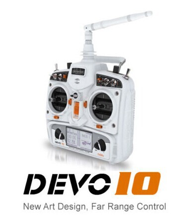 Free shipping by China post Walkera DEVO10 10CH 2KM 2.4Ghz Telemetry Function RC Transmitter + RX1002 Receiver(China (Mainland))