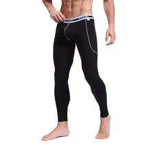 Men's Softed Long Johns Thermal Pants Bamboo Fibre Trousers Solid Color Underwear S M L(China (Mainland))