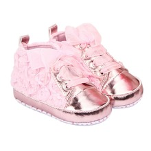 Baby Girl Shoes Toddler First walkers Shoes 3 Colors Sapato Infantil Kids Rose Flower Soft Sole Shoes 0-12 Months(China (Mainland))