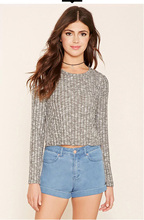 2016 hot sale women's autumn and winter sweater loose western style full sleeve short pullovers(China (Mainland))