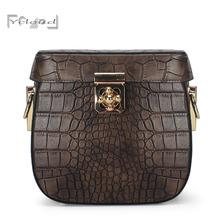 best-selling Europe fashion Shell package ladys handbag high quality genuine leather Crocodile women messenger shoulder bag 2016