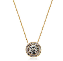 Wholesale Crystal Necklaces 925 sterling silver or18K Gold Plated Fashion Brand Women Wedding Hot Sale sellwell  circle  AO-1125(China (Mainland))