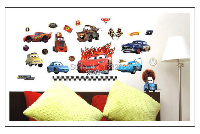 Free shipping Popular Removable Wall Stickers Chariots of Fire cars For House Decor Wall Mural Vinyl stickers(China (Mainland))