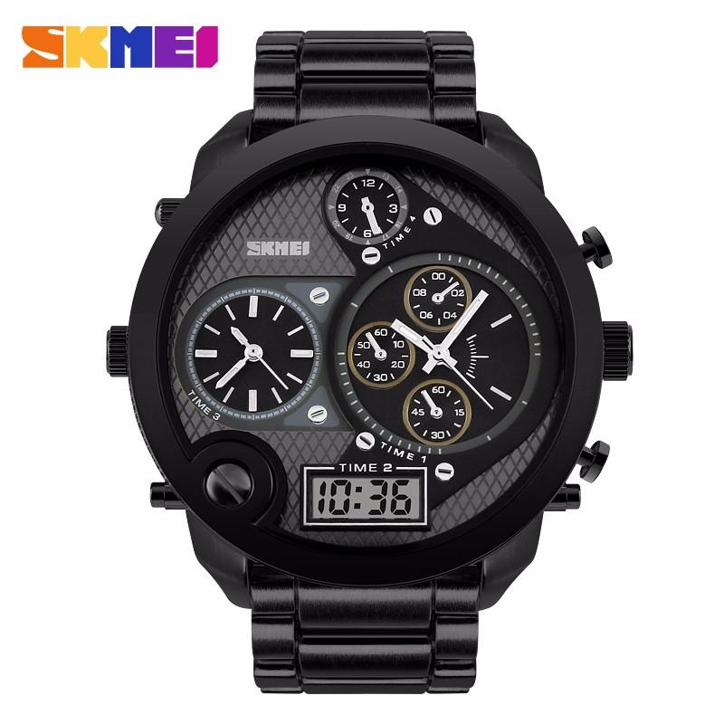 Top Skmei Brand Luxury Digital Watch LED Quartz Watch Fashion Waterproof Outdoor Sports Watches Men Military Relogio Masculino