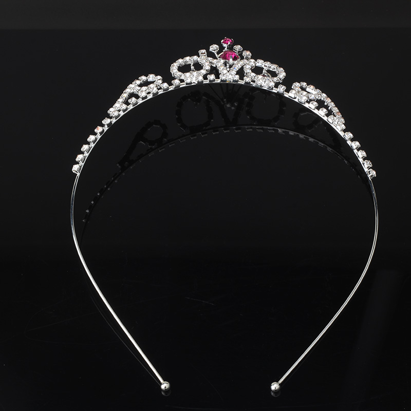 New arrival 1 pc Imperial crown Headwear Rhinestone Hair Band Baby Tiaras Accessories Children accessories Girls HairBand(China (Mainland))