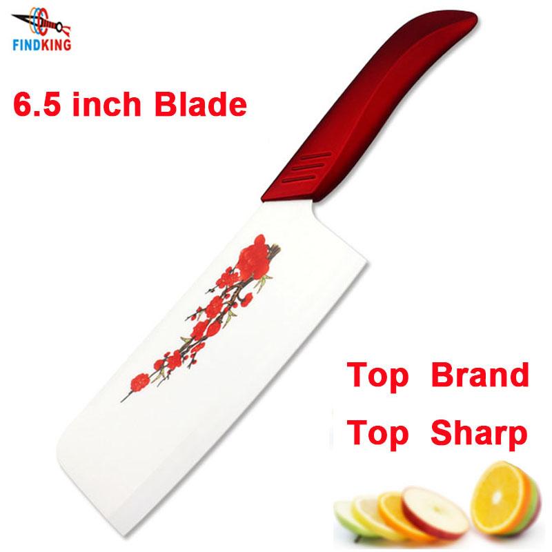 """FINDKING марка высокое качество 6.5 """"дюймовый красивый красный цветок лезвие кухня керамическая нож шеф-повара Овощной керамический нож(China (Mainland))"""