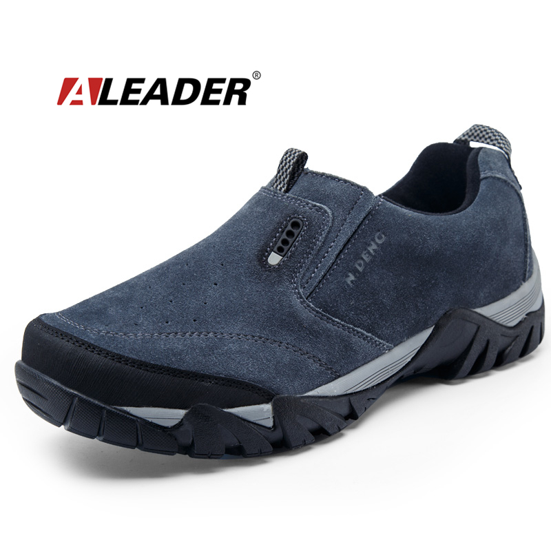 waterproof hiking shoes slip on leather outdoor shoes