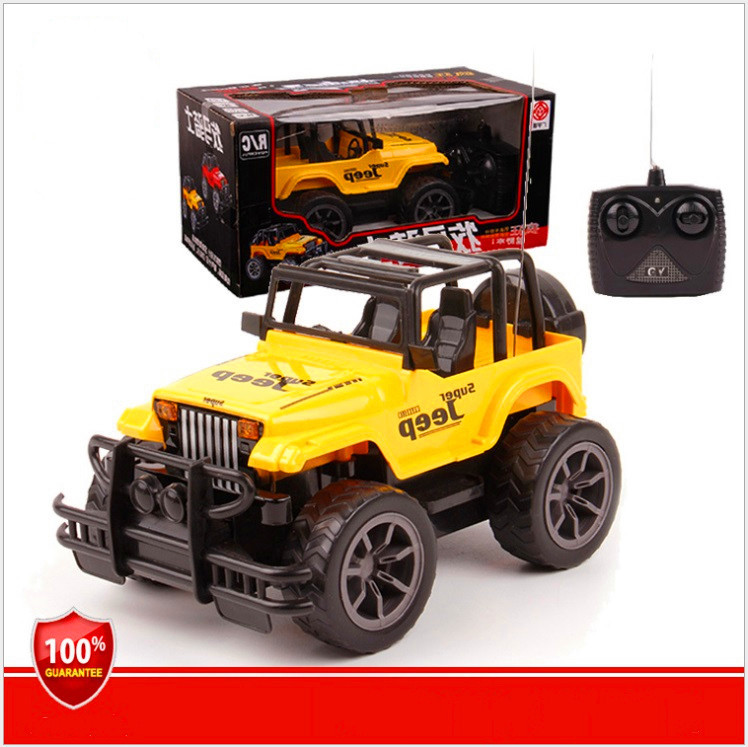 hot sale kids rc toys 4ch led simulation jeep rc car remote control truck off road vehicle in rc. Black Bedroom Furniture Sets. Home Design Ideas
