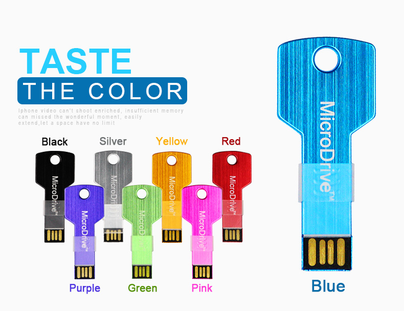 2016 brand new Super Slim USB Pen key Micro Drive 64gb 32gb usb flash drive 16 GB 8gb 4gb memory stick pen drive colorful key(China (Mainland))