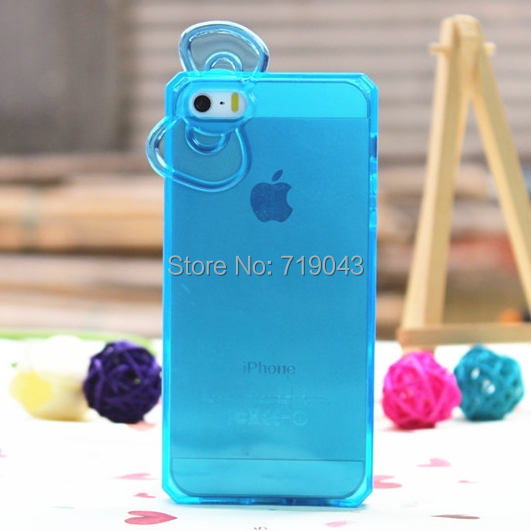 new fashion tpu cute beauty cartoon protective mobile phone case back shell iphone 5 5s bowknot  -  March_e-store store