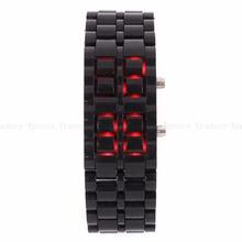 2015 New Arrival Fashion LED Wrist Watch Summer Style Volcanic Lava Iron Relojes Samurai Metal Faceless