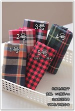 Customized 150cm width red green tartan lattice satin Chiffon silk gauze Cloth Fabric Shirt coat skirt scarf blouse Headdress