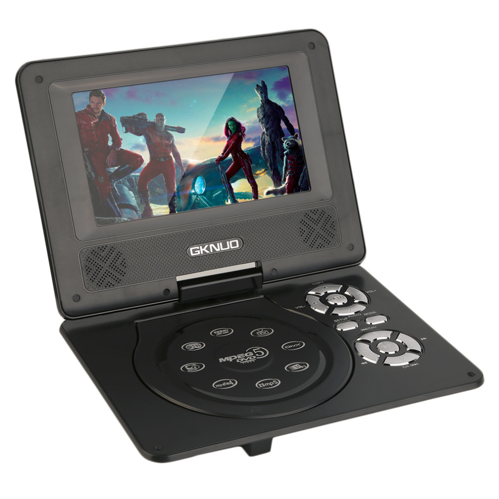 Hot Selling!   7 inch Mini Portable Rechargeable DVD Player with Swivel Screen Car Travel<br><br>Aliexpress
