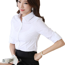 Buy Spring Summer Blouse Shirt Soild White Elegant Women Office Clothing Brand Female Roupas Blusas Femininas Casual Blouses Tops ) for $7.02 in AliExpress store