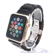 Luxury Handmade Wooden Strap Classic Buckle Watch Bands With Watch Band Adapter For Apple Watch iWatch 38mm/42mm