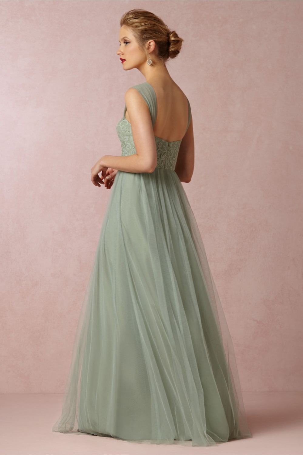 Popular mint green bridesmaid dresses 2016 with lace buy cheap 2017 mint green cheap long chiffon bridesmaid dresses sweetheart tulle bridesmaid gowns 2016 plus size wedding ombrellifo Choice Image